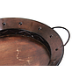 Round Metal Tray With Handles close