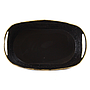 Oval Metal Container with Handles 13'' x 7'' x 4''