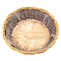 "Round Basket with Liner 14"" x 14"" x 4.5"" top"