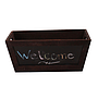 Rectangular Wood Basket with Chalkboard front