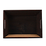 Rectangular Wood Basket with Chalkboard top