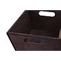 Rectangular Wood Basket with Chalkboard close