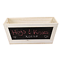 Rectangular White Wood Basket with Chalkboard front