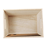 Rectangular White Wood Basket with Chalkboard top