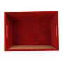 Rectangular Red Wood Basket with Chalkboard top