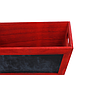 Rectangular Red Wood Basket with Chalkboard close