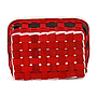 "Rectangular Red Basket ""Santa's Belt""  10"" x 7"" x 4"" bottom"
