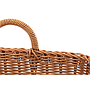Wicker Basket - Plastic With Handles Rectangular - Brown