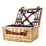 "Filled Picnic Basket for Two 15.75"" x 12"" x 7"""