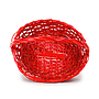 Oval Red Baskets with Handle top