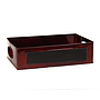 Red Rectangular Metal Basket with Chalkboard Panel 13'' x 8'' x 3.5''