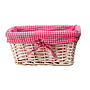 "White Baby Basket With Pink Lining 12"" x 8½"" x 5½"""