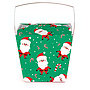 Medium 1 pint Take Out Pail - Santa & Candy Canes Pack of 25