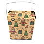 Medium 1 pint Take Out Pail - Santa & Sleigh Pack of 25