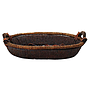 "Oval Basket 2-Tone With Handles 19"" x 15½"" x 3"""