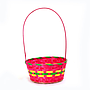 Multi Coloured Round Bamboo Baskets