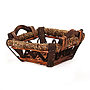 Dark Brown Square Baskets With Handles