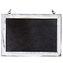 Chalkboard Sign with White Border 12'' x 8.5''